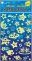 Samolepky svítící ve tmě hvězdičky 19x10cm