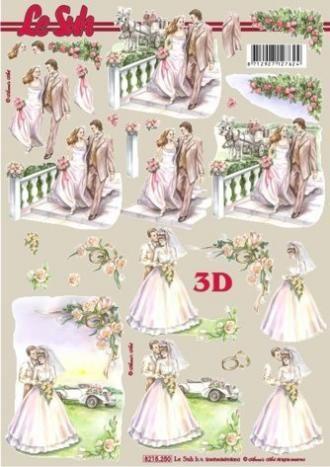 Svatební kočár - 3D papír Le Suh