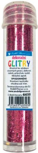Třpytky - glitry 6g růžové ostatní