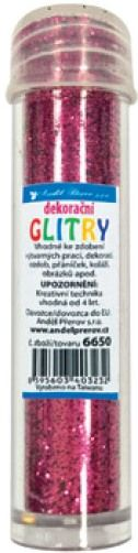 Třpytky - glitry 6g růžové