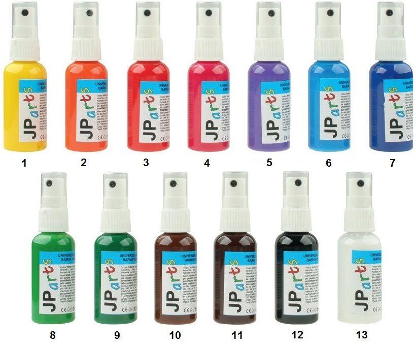 Univerzální akrylátové barvy ve spreji lesklé, základní odstíny 50g JP Arts