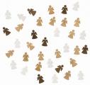 Výseky dřevěné - andělíčci 2 cm, 3 barvy - 24 ks