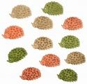 Výseky dřevěné - ježci 4 cm, 3 barvy - 12ks