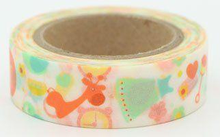 Washi Tape - dekorační lepicí páska - 10mx15mm - DĚTSKÉ ostatní