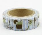 Washi Tape - dekorační lepicí páska - 10mx15mm - JUICE