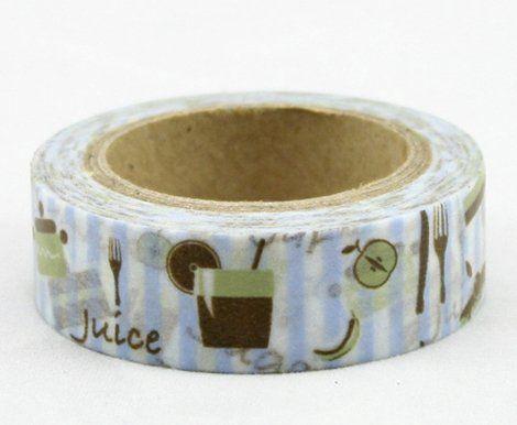 Washi Tape - dekorační lepicí páska - 10mx15mm - JUICE ostatní
