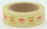 Washi Tape - dekorační lepicí páska - 10mx15mm - MEDVÍDCI