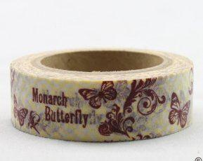 Washi Tape - dekorační lepicí páska - 10mx15mm - MONARCH BUTTERFLY ostatní