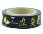 Washi Tape - dekorační lepicí páska - 10mx15mm - MORNING GLORY