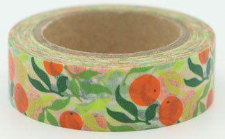 Washi Tape - dekorační lepicí páska - 10mx15mm - POMERANČE ostatní