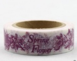 Washi Tape - dekorační lepicí páska - 10mx15mm - SPRING FLOWER