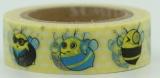 Washi Tape - dekorační lepicí páska - 10mx15mm - VČELKY