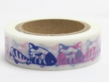 Washi Tape - dekorační lepicí páska - 10mx15mm - ZAMILOVANÉ ZEBRY