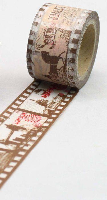 Washi Tape - dekorační lepicí páska - 10mx30mm - FILMOVÝ PÁSEK ostatní