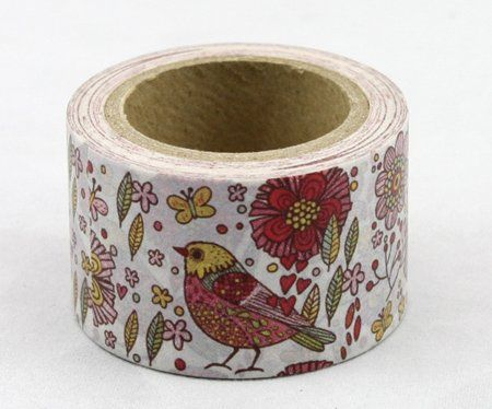 Washi Tape - dekorační lepicí páska - 10mx30mm - PTÁČEK ostatní