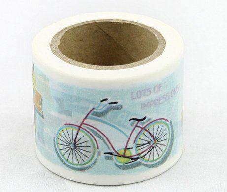Washi Tape - dekorační lepicí páska - 10mx38mm - BALÓN, KOLO ostatní