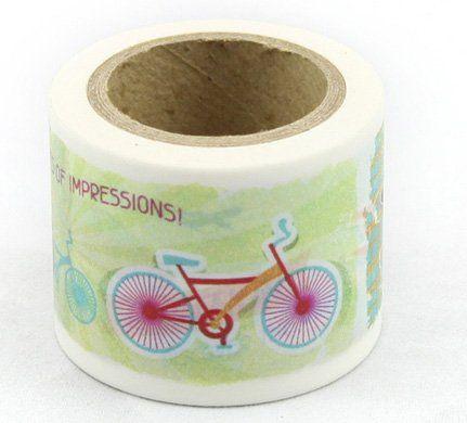 Washi Tape - dekorační lepicí páska - 10mx38mm - KOLO, AUTO... ostatní