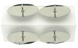 Bodce na svíčky stříbrné 4ks v sáčku, 4cm