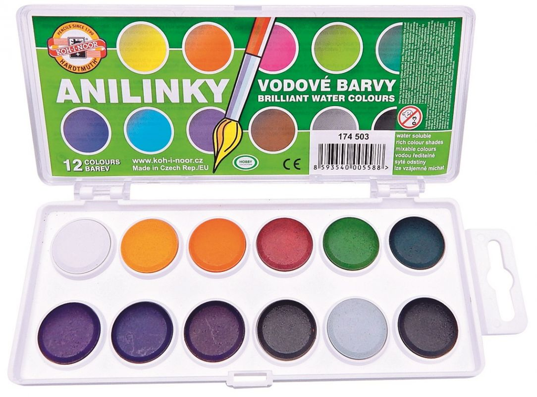 Anilinky - vodové barvy Koh-i-noor 174 503