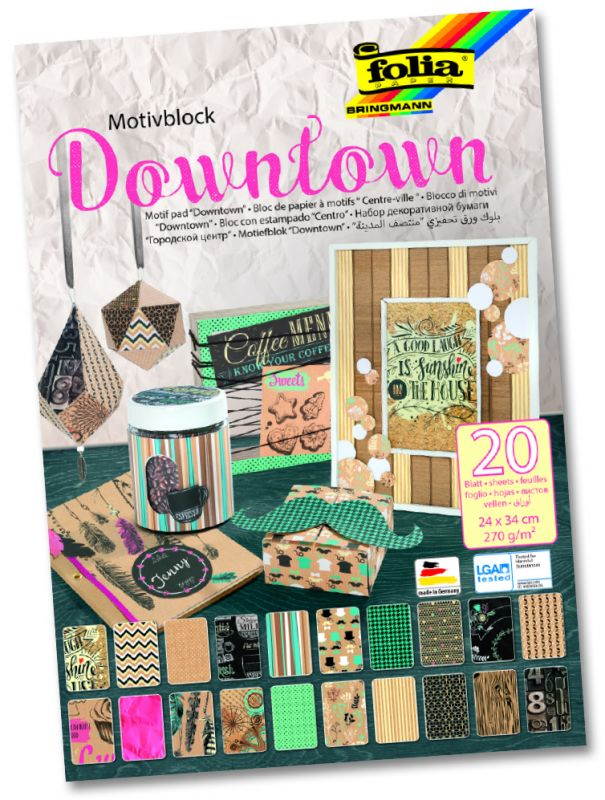 Blok s motivem Downtown 270 g/m2, 20 listů Folia