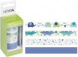 Deco Tape - sada Baby modrá 4ks 15mmx5m