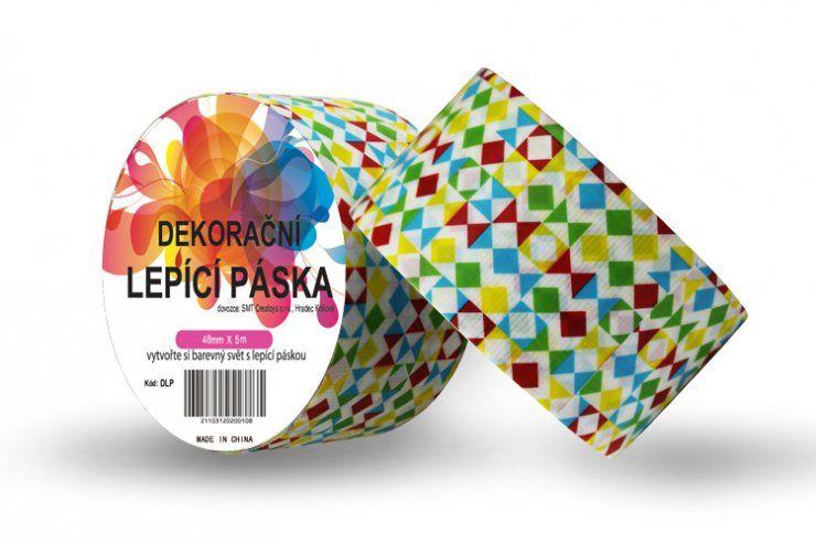 Duct Tape - dekorační lepicí páska - 5m x 48mm - BAREVNÉ TVARY ostatní