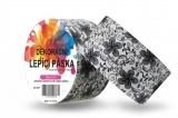 Duct Tape - dekorační lepicí páska - 5m x 48mm - ČERNÉ KVĚTINY