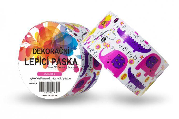 Duct Tape - dekorační lepicí páska - 5m x 48mm - DĚTSKÁ ZVÍŘÁTKA ostatní