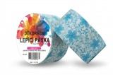 Duct Tape - dekorační lepicí páska - 5m x 48mm - MODRÉ KVĚTINY