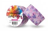 Duct Tape - dekorační lepicí páska - 5m x 48mm - MOTÝLCI V RŮŽOVÉ