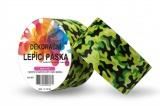 Duct Tape - dekorační lepicí páska - 5m x 48mm - VOJENSKÁ ZELENÁ