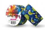 Duct Tape - dekorační lepicí páska - 5m x 48mm - ZELENÍ PTÁČKOVÉ V MODRÉ