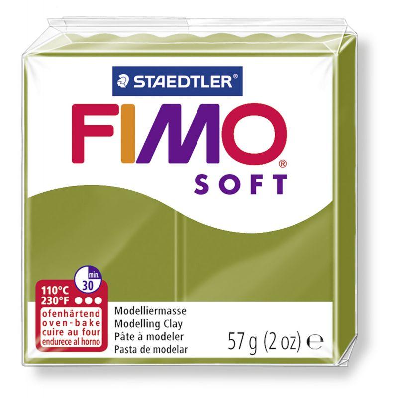 Fimo Soft Polymerová hmota 56g / fimo 57 g - trend olivově zelená 57 - NOVINKA Staedtler