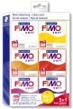 FIMO Soft - sada 5+1 ks TEPLÉ BARVY