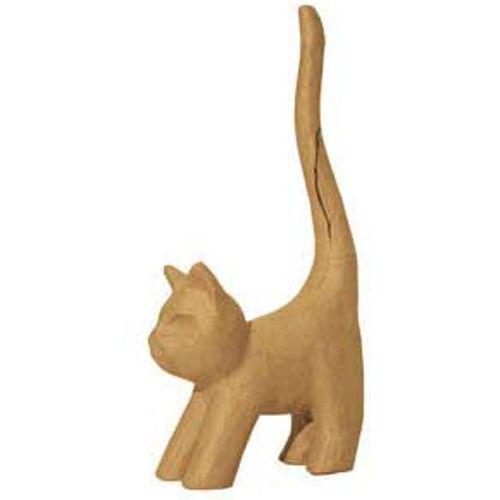 Kartonový předmět kočka s dlouhým ocasem 7x14x34cm DÉCOPATCH