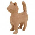 Kartonový předmět kočka v pozoru 8,5x11x4 cm