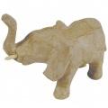 Kartonový předmět slon s chobotem nahoru 6x11,5x8 cm