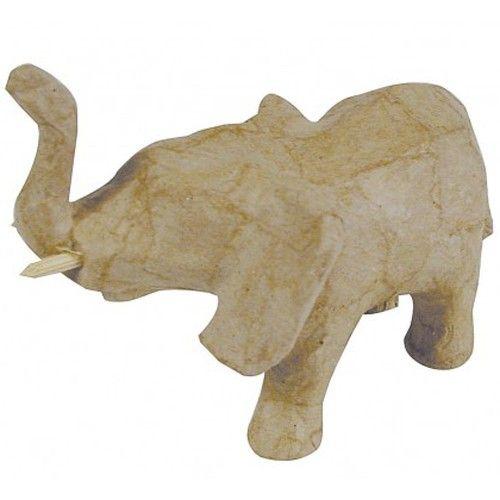 Kartonový předmět slon s chobotem nahoru 6x11,5x8 cm DÉCOPATCH