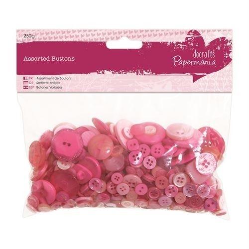 Knoflíky mix (250g) Růžové ostatní
