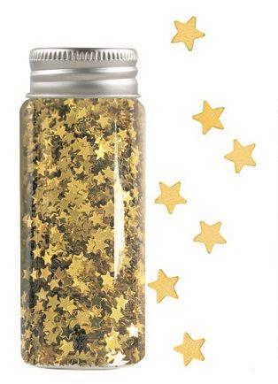 Konfety mini hvězdičky v tubě zlaté, 55 g