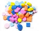 Korálky pěnové - mix tvarů a barev - 66 ks SMTCreatoys