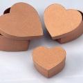 Krabička z kartonu sada 3ks srdce