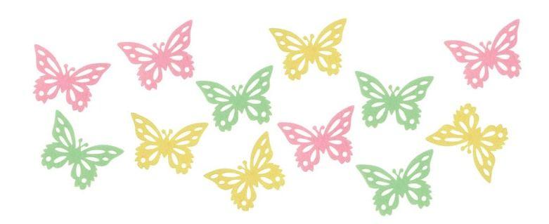 Motýlci z filcu 3,5 cm, 12 ks Andel