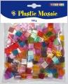 Mozaika plastová průhledná - 10 x 10 mm, 100g