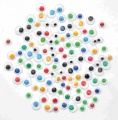 Oči barevné 600 ks mix barev a velikostí