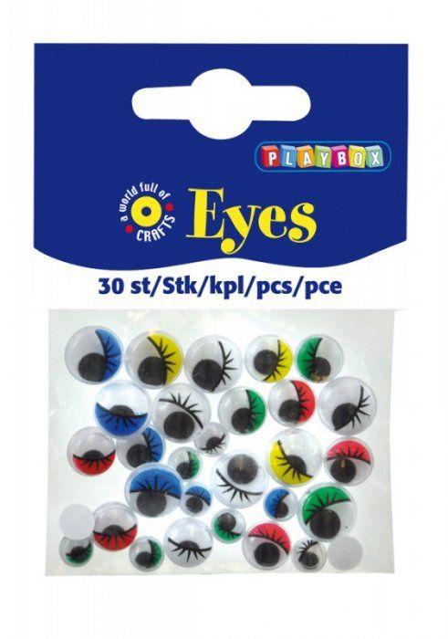 Oči s řasami 30 ks PLAYBOX