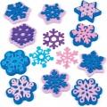 Pěnová razítka Sněhové vločky 10ks