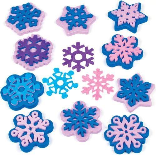 Pěnová razítka sada Sněhové vločky 10ks BAKER ROSS