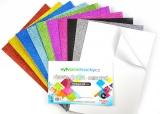 Pěnovka moosgummi třpytivá samolepící - A4- sada 10listů mix barev