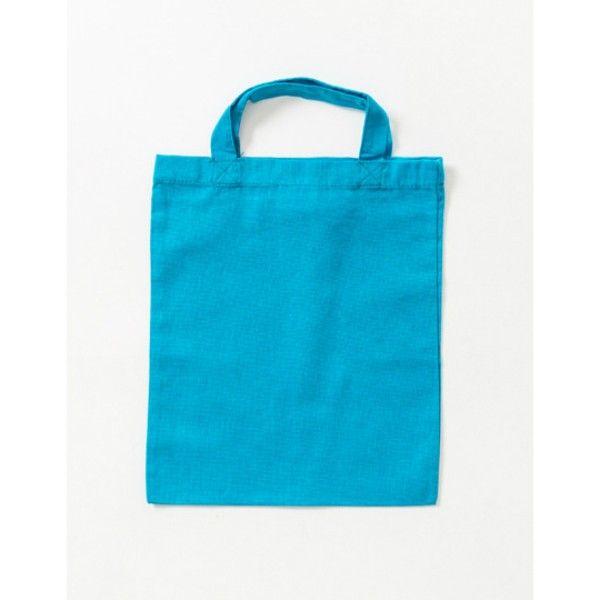 Plátěná taška malá 26x22cm tyrkysová ostatní